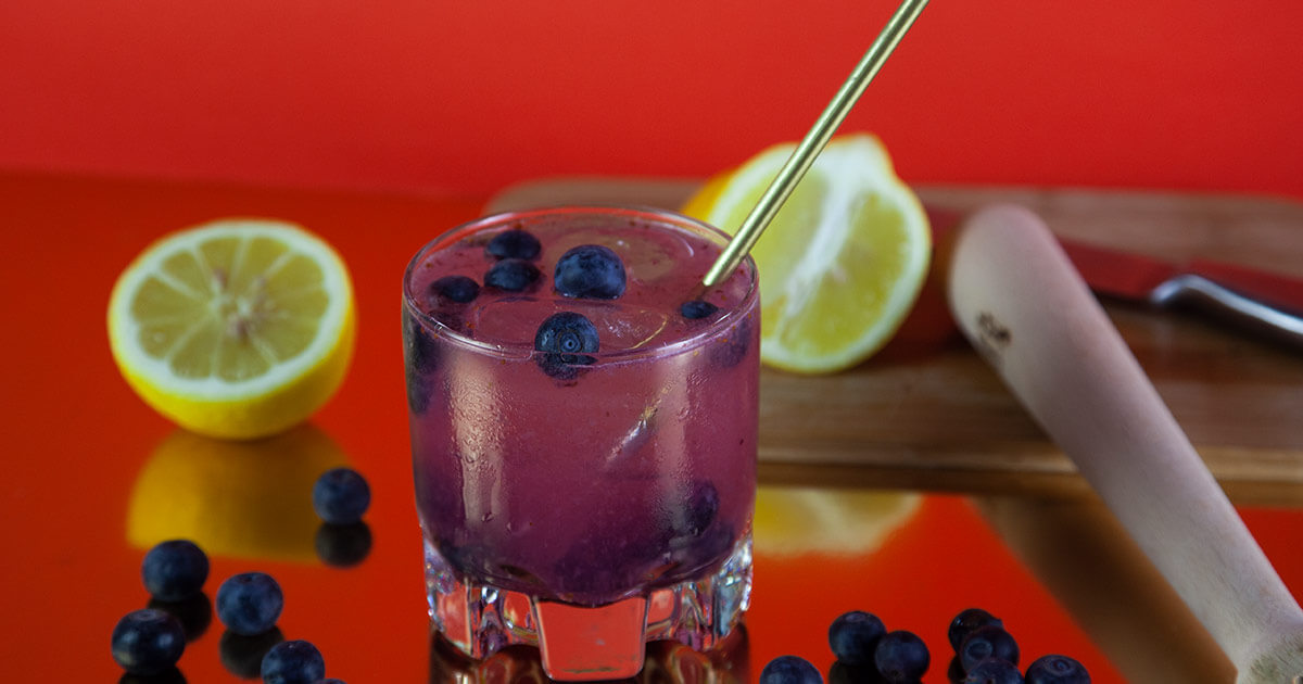 Blueberry Buck Gin Cocktail
