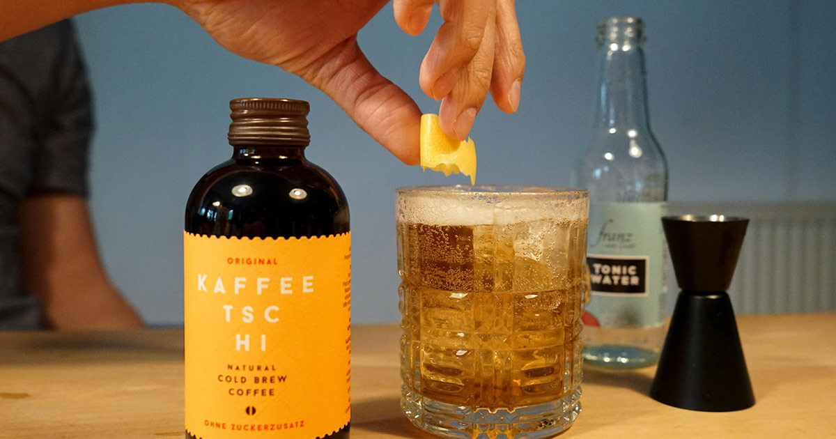 Cold Brew Gin Tonic Cocktail