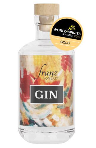 Franz von Durst Gin mit World Spirit Award Label