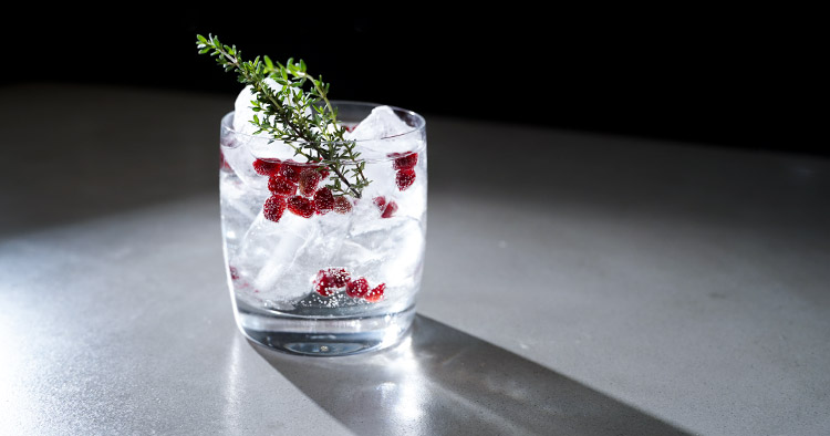 Das Motto unseres Granatapfel-Holunder Gin Tonic: